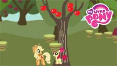Пони делают яблочный сок