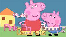 Свинка Пеппа украшает дом