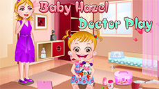 Девочка Хейзел играет в доктора
