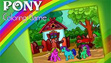 Онлайн раскраска: Пони
