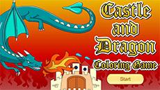 Онлайн раскраска: Замки и драконы