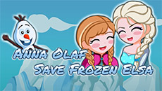 Анна и Олаф спасают Эльзу