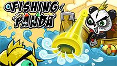 Панда на рыбалке